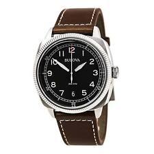 Bulova Uhren Military Vintage Herren Leder - 96B230