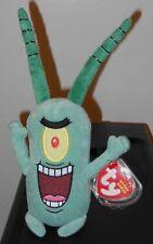 Ty Beanie Baby ~ SHELDON J. PLANKTON (SpongeBob Squarepants) NEW MWMT