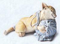 Scruff & Puss Figurine #4241 Sleeping Cat with Yarn