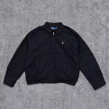 Men's Polo by Ralph Lauren Black Harrington Jacket Size XXL Vintage Rare
