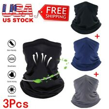 🔥 (Pack of 3) Balaclava Neck Face Mask Gaiter Scarf Motorcycle Cycling Bandana