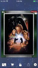 Topps Star Wars Digital Card Trader Green Glass Revenge Posters 2 - Wave 4 Award