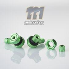Green 11.3mm CNC Aluminium 90 Degree Motorcycle Car Wheel Rim Tyre Valve Stems
