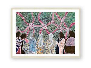 Aboriginal Print , Indigenous Wall Art , Australian Art , Framed Print