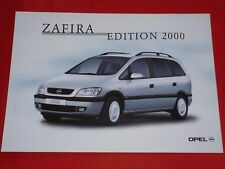 "OPEL Zafira A ""Edition 2000"" Sondermodell Prospektblatt von 2000"