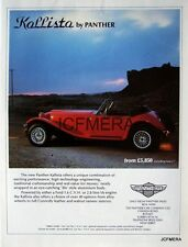 Rare 1982 PANTHER 'Kallista' Sports Car Ad. - Original Auto Advert Print