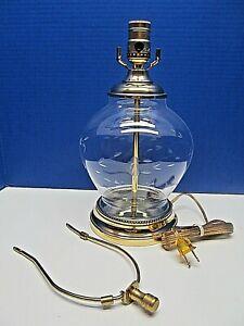 VINTAGE HANDCUT CRYSTAL PRINCESS HOUSE HERITAGE GINGER JAR ELECTRIC LAMP UNUSED!