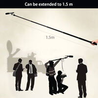 Micro Boom Pole Microphone Mic Holder 5 Section Boompole 35.5cm-150cm
