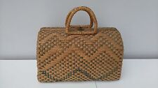VINTAGE IN VIMINI Mercato Shopping Bag Borsa Custodia cestello Grab Bag