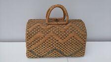 Vintage Wicker Market Shopping Bag Handbag Case Basket Grab Bag