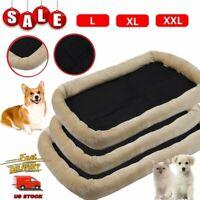 "36""~48"" Pet Bed for Dog Cat Crate Mat Soft Warm Pad Liner Home Indoor Outdoor BT"