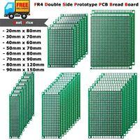 10x FR4 PCB Circuit Board Prototype Tinned Universal Double Side 2x8cm - 9x15cm