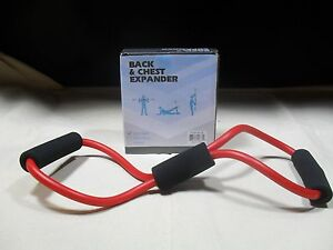 Back & Chest Expander ~ Resistance Band ~ New in Box ~ Red