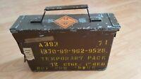 MILITARY BRITISH ARMY AMMUNITION BOX METAL VINTAGE