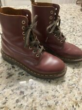 Womens Dr Martens Doc Martens Boots. USM 6. Lace Up Maroon colored