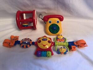 Rattle Phone Baby Car Seat Stroller Toy Developmental Activity Toys Lot Of 3
