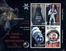 ST.VINCENT 2008 FIRST STEPS in SPACE/ GAGARIN M/S SC#3643 MNH CV$6.50 ASTRONOMY