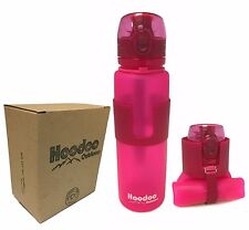 Hoodoo Outdoors Collapsible Water Bottle - Pop Top - BPA Free - 22 Ounce - PINK