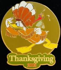 Disney Auctions 2003 Thanksgiving Native Donald Duck Jumbo Pin Le 100! Pp #26964