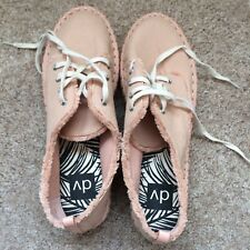 f9f9cf799 DV By Dolce Vita Womens Pink Canvas Espadrille Platform Sneakers Shoes Size  9.5