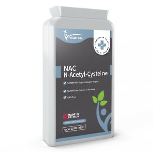 N-Acetyl Cysteine (NAC) 600 mg 120 Capsules - Liver & Lung Function Support UK