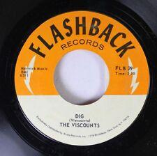 Rock 45 The Viscounts - Dig / Harlem Nocturne On Flashback Records