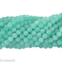 "LOVE 2Strands Amazonite Semi-Precious Gemstone Loose Beads Round 6mm(2/8"")"