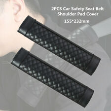 2X Car Safety Seat Belt Shoulder Pad Cover Cushion Harness Comfortable Pad Black