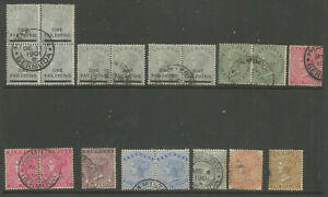BERMUDA SELECTION OF 19 FINE USED VICTORIAN STAMPS INC MULTIPLES