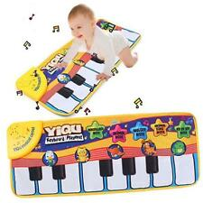 Musical Baby PlayMat Gym Activity Blanket Toy Game Carpet Floor Piano Toy Pad @T