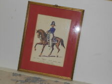 Vtg. Italian Military Museum 1814-1842 Ufficiale Piccola Montura EstFramed Print
