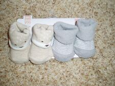 New Carter'S Just One You Set of 2 Booties Newborn Infant Boys Socks $0 S/H!
