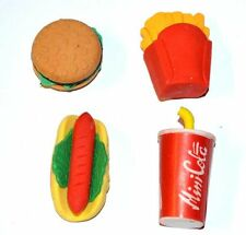 Novelty Fast Food Eraser Party Loot Bag Filler Stocking Pinata Favour Stationary