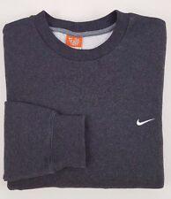 NIKE Pulli JUMPER Sweatshirt GRAY Large MENS Size COTTON Blend CREWNECK Fleece**