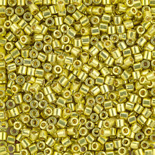 Miyuki Delica Seed Beads 3mm Size 8/0 Duracoat Galvanized Zest 6.8g Tube (J97/5)