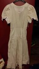 015 Vintage ladies Perspective size 7 dress Ramie Cotton blend Cream Pink