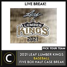2021 LEAF LUMBER KINGS béisbol 5 Caja (mitad Case) romper #A1112 - Elige Tu Equipo