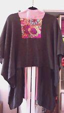 Stunning DAVID DART Lambswool Sweater Cape w/Sequin Detail-One Size-Small/XL-EUC