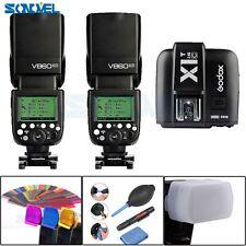 2X Godox V860II-C TTL Li-ion Battery Camera Flash + X1T-C Transmitter for Canon