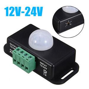 Bewegungsmelder 12V / 24V, 8m PIR Bewegungmelder Sensor Melder Detector 12 Volt