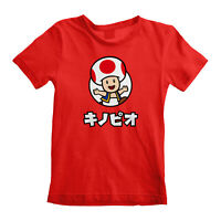 Official Super Mario Toad Kids T Shirt Nintendo Boys Girls  NES Console Game NEW