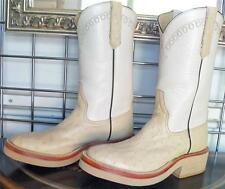 Rios of Mercedes Winter White Full Quill Ostrich Cowboy Boots 6C Ladies 7 to 7.5