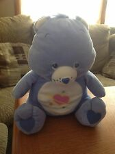 "Care Bear DAYDREAM BEAR 14"" Plush Nanco Heart Space Stars Periwinkle Blue"