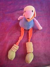 Doudou mouton longue jambe bleu vert rouge jaune violet CMP 32cm
