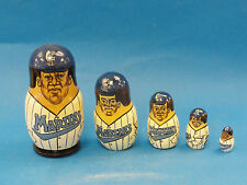 Whimsical 5 pcs Florida Marlins Russian Nesting Dolls