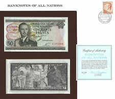 50 FR LUXEMBOURGEOIS 1972 BILLET NEUF+ ENVELOPPE TIMBRE DU PAYS GROSSE COTE