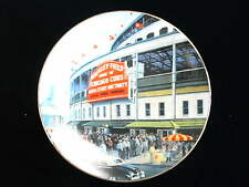 Wrigley Field Take Me out to the Ballgame collectors plate 22kt gold rim Cubs