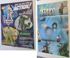 2 Dc Comics Vertigo Swamp Thing Promo Posters 1998 Rare Direct Figure Sandman