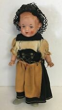 Vintage Celluloid Hard Plastic Doll Ethnic Girl In Costume