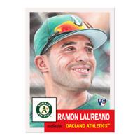 2019 Topps MLB The Living Set #182 Ramon Laureano RC Rookie Oakland Athletics